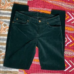 7 For All Mankind dark green cord 29